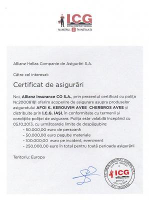Certificat Asigurari Cherbros
