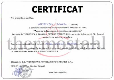 Certificat Thermostahl