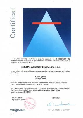 Certificat Viessmann