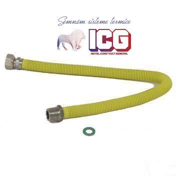 RACORD EXTENSIBIL GAZ CU PROTECTIE 100-200 CM, 1/2-1/2 FM