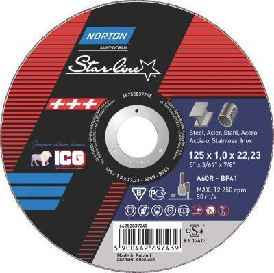 DISC TAIERE NORTON STARLINE 125X1,6MM