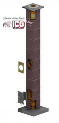 Cos de fum LEIER inaltime 8m, diametru 180mm, racord 45
